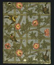 William Morris, Trellis wallpaper, 1860s, V&A Museum