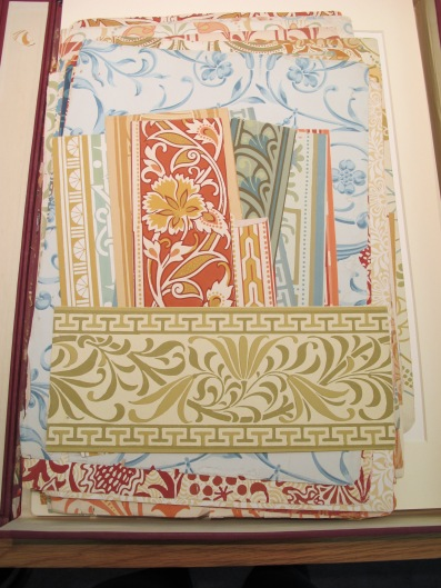 Lewis Foreman Day, wallpaper samples, V&A Museum