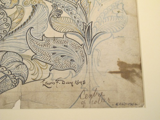 Lewis Foreman Day, design for textile, V&A Museum