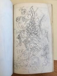Pattern sketch by Walter Crane, Beinecke Library